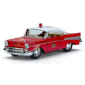 Модель KINSMART Chevrolet Bel Air (Fire Chief) 1957, метал, инерц. (KT5325W)